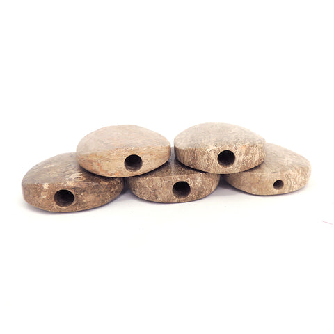 Onyx Pipe - Round Smoke Stone - Tan