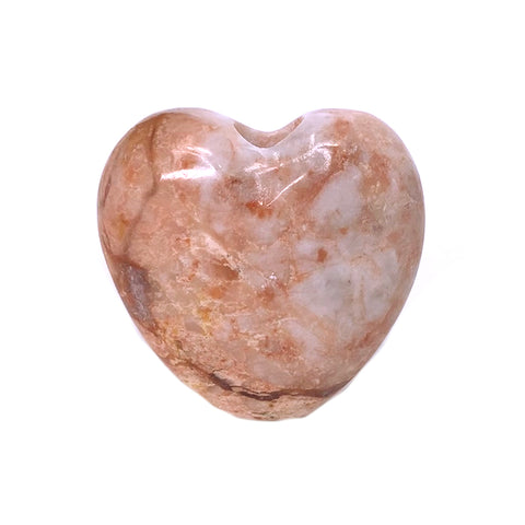 Onyx Pipe - Heart Smoke Stone - Pink