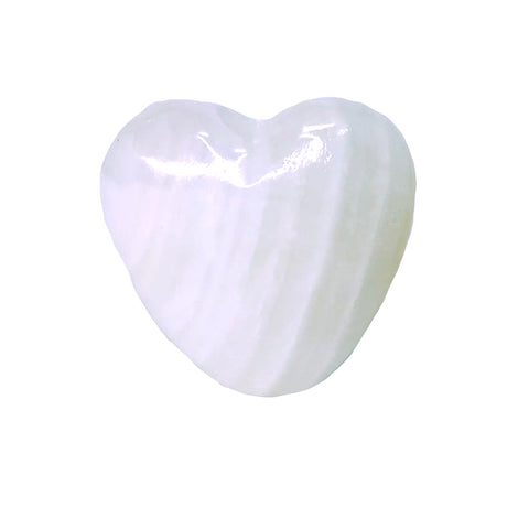 Onyx Pipe - Heart Smoke Stone - White