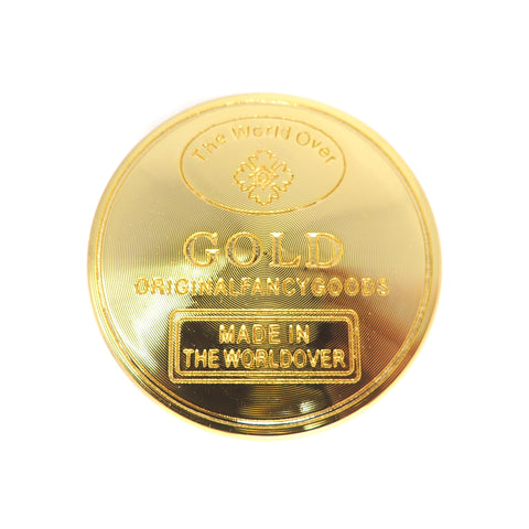 40mm Gold 4 Part Herb Grinder made in the worldover