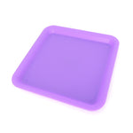Silicone rolling tray in purple side view