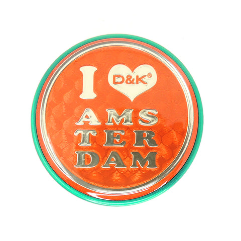 3 Part 50mm Grinder with Amsterdam Logo - Green Amsterdam