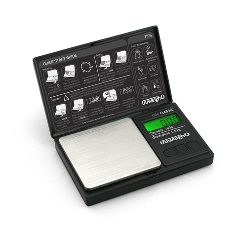 Truweigh Classic Digital Mini Scale - 100g x 0.01g - Black