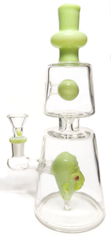 Double Joint Vase with Skull Perc Online Smoke Shop Online Head Shop Glass Water Pipe Rig