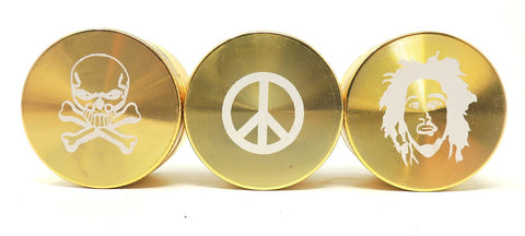 50mm 3 pc. Grinder - Gold Herb Grinder Online Smoke Shop Online Head Shop