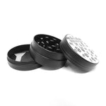 50mm White & Black 3 Part Grinder - Skull Herb Grinder Online Smoke Shop Online Head Shop