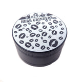 50mm White & Black 3 Part Grinder - Lips Herb Grinder Online Smoke Shop Online Head Shop