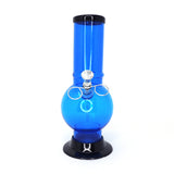 "Acrylic Pull Slide Water Pipe 9"" Bubble Base (2"" Diameter) - Assorted Colors"