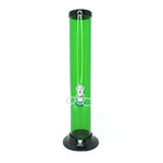 "Acrylic Pull Slide Water Pipe 12"" Straight (2"" Diameter) - Assorted Colors"