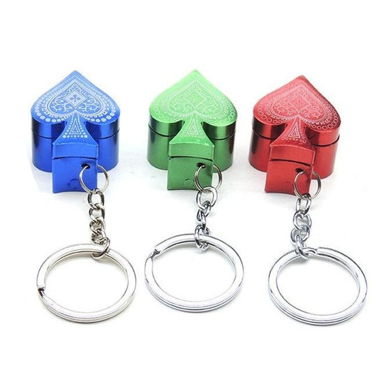 Poker Key chain Metal Pipe