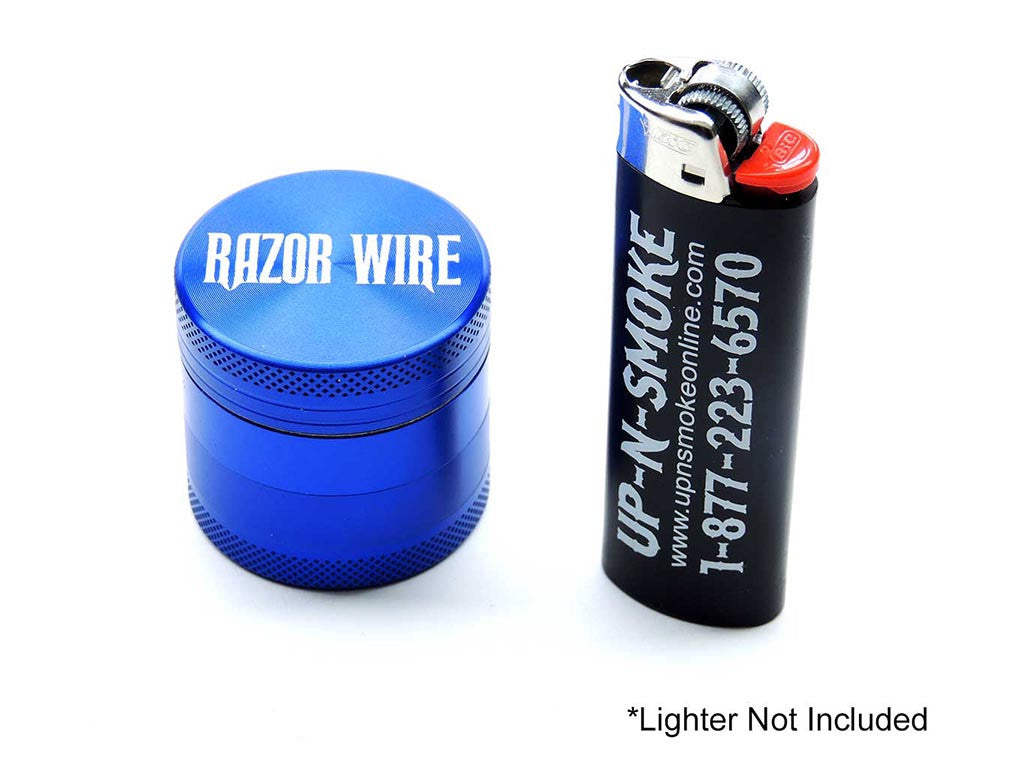 Razor Wire 1.5 Inch Anodized Aluminum Grinder Blue