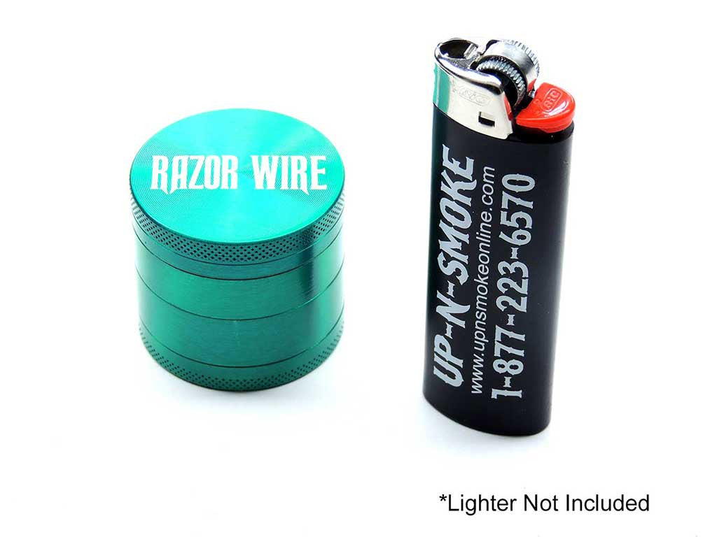 Razor Wire 1.5 Inch Anodized Aluminum Grinder Green
