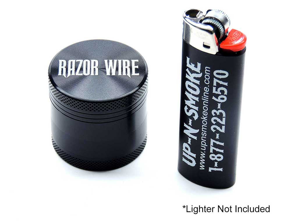 Razor Wire 1.5 Inch Anodized Aluminum Grinder Black