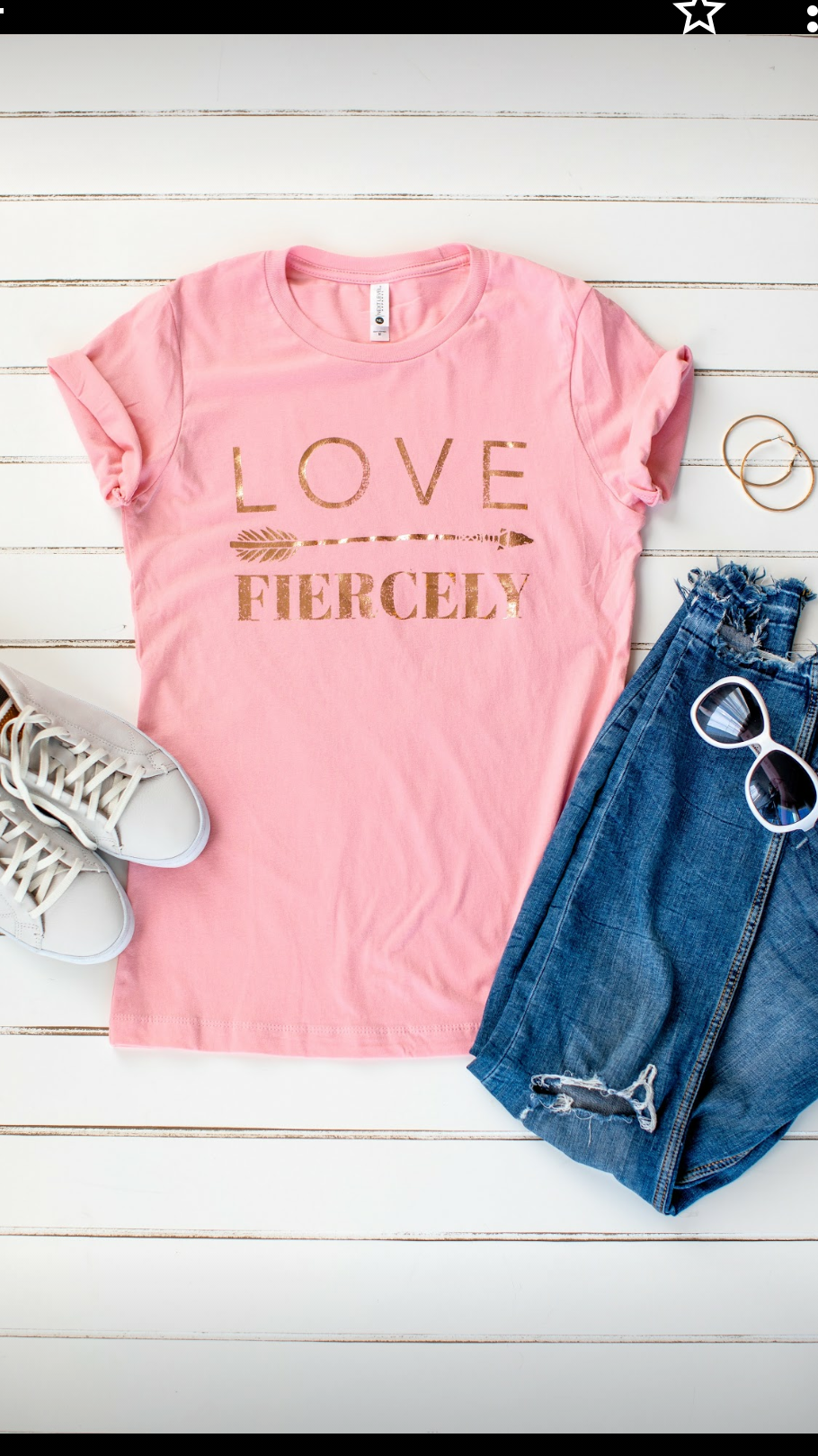 """Love Fiercely"" Tee"