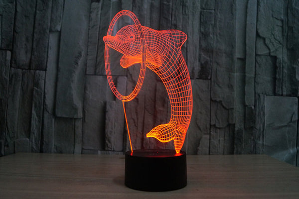 Dolphin Led Lamp