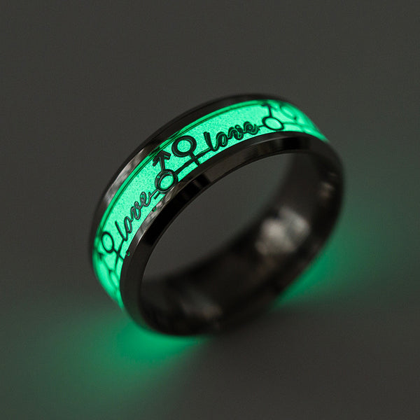 "Glow in The Dark ""Love"" Ring"