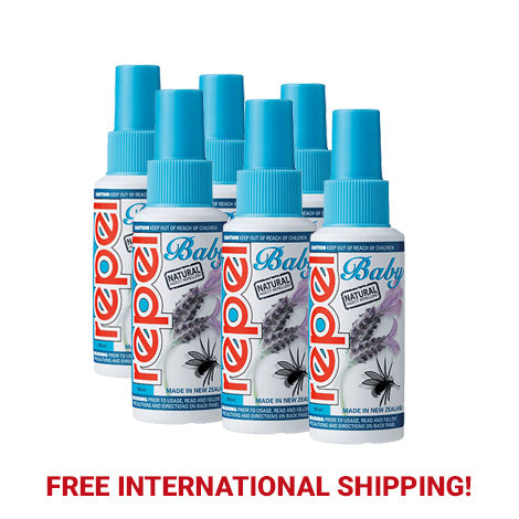 Repel Natural Baby Pump Spray 100ml (Six Bottle Bulk Pack)