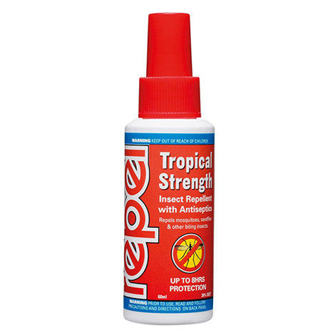 Repel Tropical Strength DEET Insect Repellent 60ml pump spray bottle