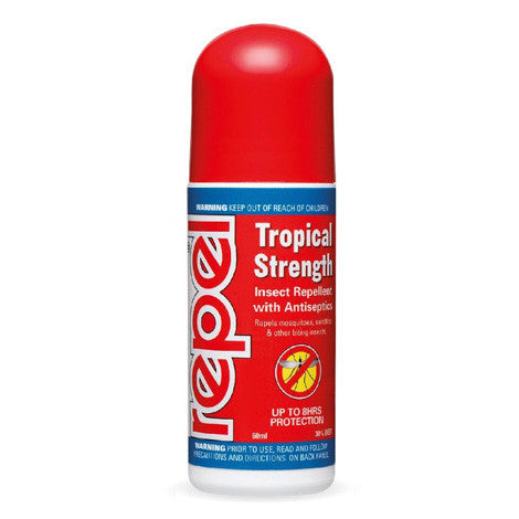 Repel Tropical Strength DEET Insect Repellent Roll on 60ml