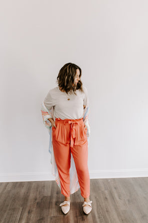 theo- red clay pant