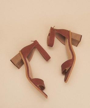 brown block heel