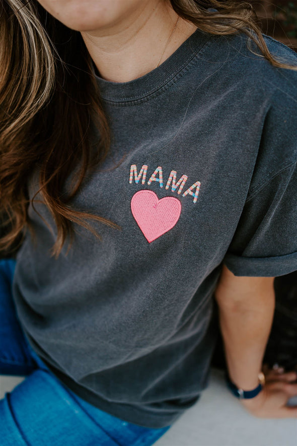 mama embroidered tee