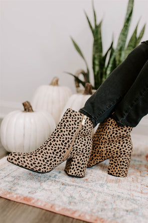 chanel cheetah booties