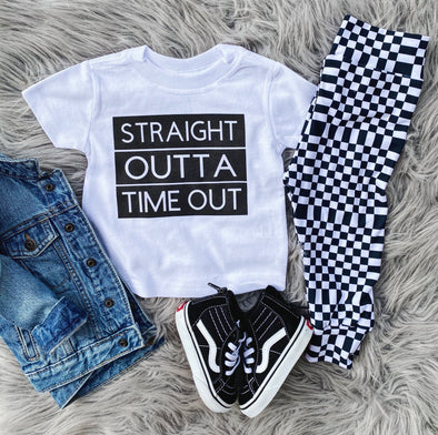straight outta time out tee