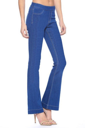 Flare jeggings- blue