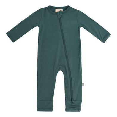zippered romper emerald 6/12m