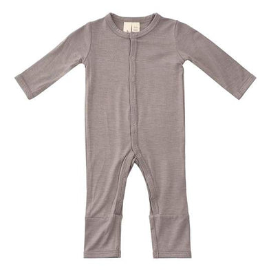 solid romper clay 6/12m