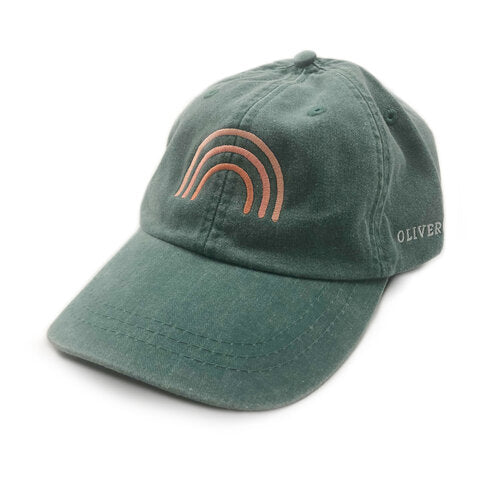 rainbow hat forest green