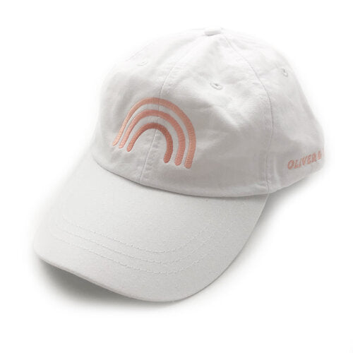 rainbow hat white