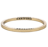 Brass Bangle with 1 Diamond Hartford