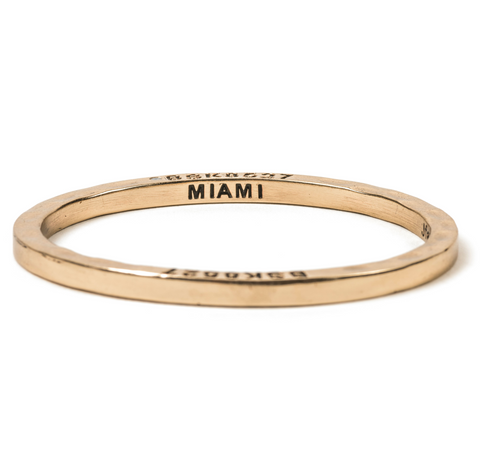 Brass Bangle with 1 Diamond Miami