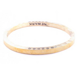 Brass Bangle with 1 Diamond Newark
