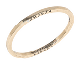 Brass Bangle with 1 Diamond Detroit