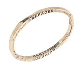 Brass Bangle with 8 Diamonds Hartford