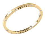 Brass Bangle with 8 Diamonds San Francisco