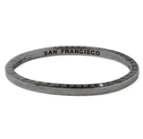 Ltd Edition Coal Bangle with 1 Diamond San Francisco