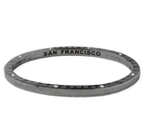 Ltd Edition Coal Bangle with 8 Diamonds San Francisco