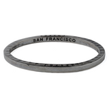 Ltd Edition Coal Bangle San Francisco