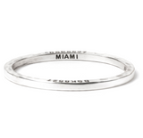 Steel Bangle with 1 Diamond Miami