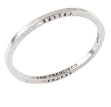 Steel Bangle with 1 Diamond San Francisco