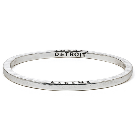 Steel Bangle with 1 Diamond Detroit