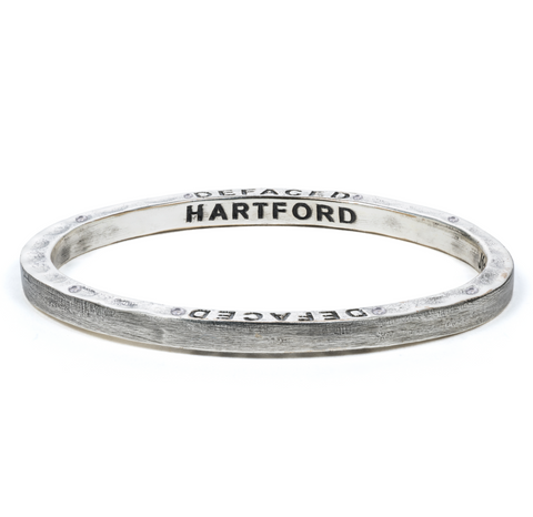 Steel Bangle with 8 Diamonds Hartford