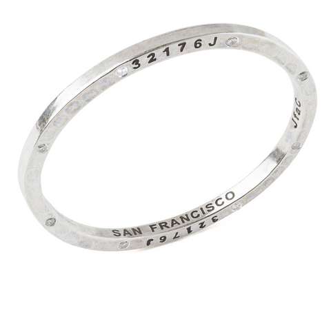 Steel Bangle with 8 Diamonds San Francisco