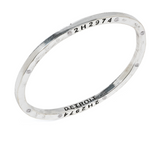 Steel Bangle with 8 Diamonds Detroit