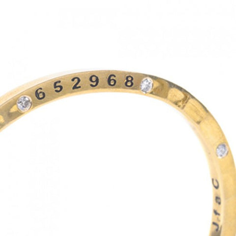 Brass Bangle with 8 Diamonds Newark