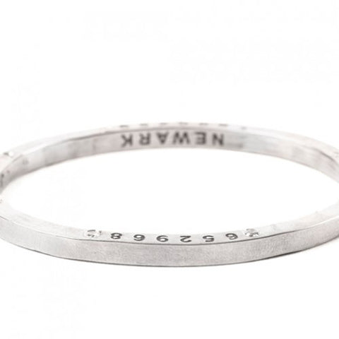 Steel Bangle with 8 Diamonds Newark